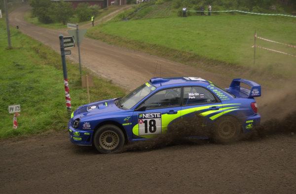 2001 World Rally Championship.Neste Rally Finland. Jyvaskyla, August 24-26, 2001.Markko Martin on stage 10.Photo: Ralph Hardwick/LAT