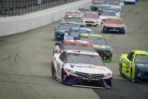 #11: Denny Hamlin, Joe Gibbs Racing, Toyota Camry FedEx Office, #20: Christopher Bell, Joe Gibbs Racing, Toyota Camry Rheem/Watts