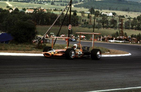 1969 South African Grand Prix.Kyalami, South Africa.27/2-1/3 1969.John Love (Lotus 49 Ford).Ref-69 SA 45.World Copyright - LAT Photographic