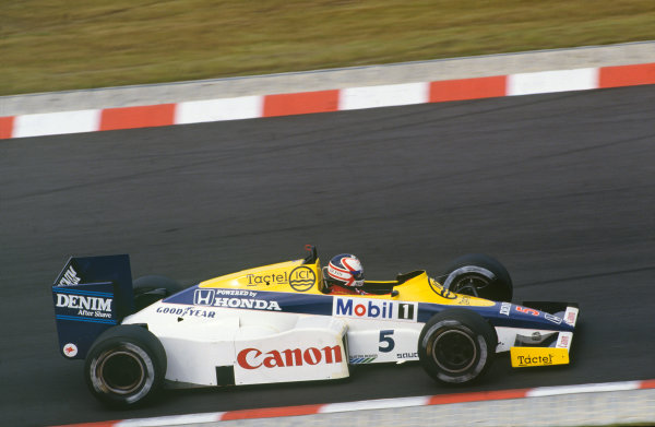 Nurburgring, Germany. 2nd - 4th August 1985.Nigel Mansell (Williams FW10-Honda), 6th position, action. World Copyright: LAT Photographic.Ref:  85GER