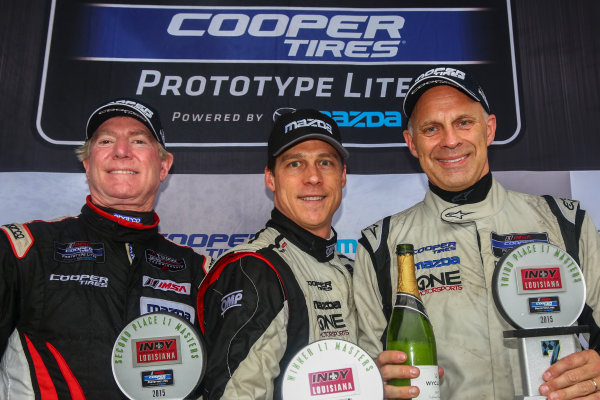 10-12 April, 2015, Avondale, Louisiana USA Cooper Tire Lites, L1 Masters, Race 2, Podium ?2015, Jake Galstad LAT Photo USA