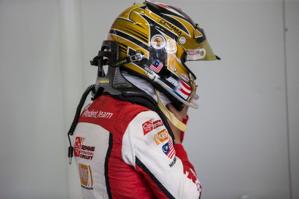 2017 FIA Formula 2 Round 10. Circuito de Jerez, Jerez, Spain. Saturday 7 October 2017. Nabil Jeffri (MAS, Trident).  Photo: Andrew Ferraro/FIA Formula 2. ref: Digital Image _FER1495