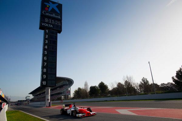 Circuit de Barcelona Catalunya, Barcelona, Spain. Tuesday 14 March 2017. Sergio Sette Camara (BRA, MP Motorsport). Action.  Photo: Alastair Staley/FIA Formula 2 ref: Digital Image 580A0667