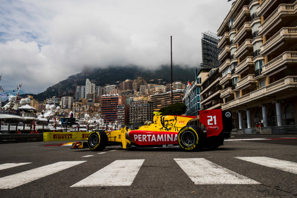 2017 FIA Formula 2 Round 3. Monte Carlo, Monaco. Thursday 25 May 2017. Sean Gelael (INA, Pertamina Arden)  Photo: Zak Mauger/FIA Formula 2. ref: Digital Image _54I5192