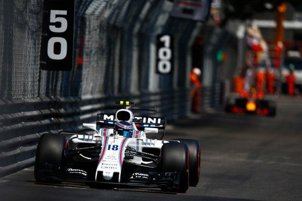 Monte Carlo, Monaco. Sunday 28 May 2017. Lance Stroll, Williams FW40 Mercedes. World Copyright: Andrew Hone/LAT Images ref: Digital Image _ONY1627