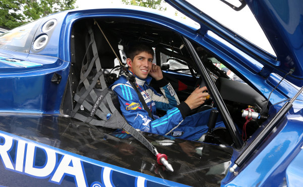 31 May-1 June, 2013, Detroit, Michigan, USA Ricky Taylor in his car before practice. ©2013, R D. Ethan LAT Photo USA