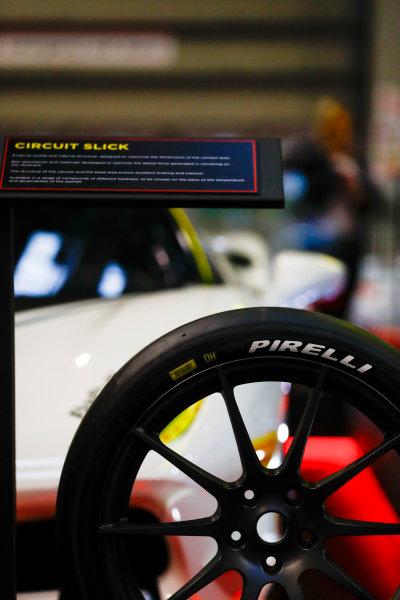 Autosport International Exhibition. National Exhibition Centre, Birmingham, UK. Sunday 14th January 2018. The Pirelli stand. World Copyright: Ashleigh Hartwell/LAT Images Ref: _R3I9652
