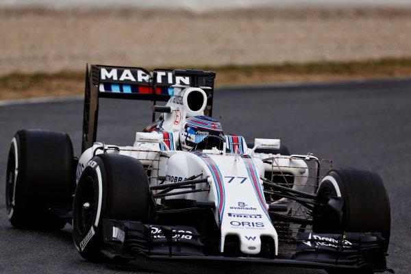 Circuit de Catalunya, Barcelona, Spain Monday 22 February 2016. Valtteri Bottas, Williams FW38 Mercedes. World Copyright: Alastair Staley/LAT Photographic ref: Digital Image _R6T6518
