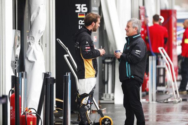 Jean-Eric Vergne (FRA), DS TECHEETAH, with Gerd Mauser of Jaguar Racing