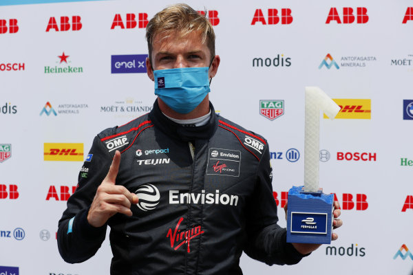 Pole man Nick Cassidy (NZL), Envision Virgin Racing, with the trophy