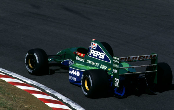 1991 Japanese Grand Prix.Suzuka, Japan.18-20 October 1991.Alex Zanardi (Jordan 191 Ford).World Copyright - LAT Photographic