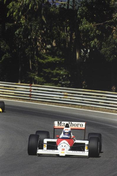 Alain Prost, McLaren MP4-5 Honda.