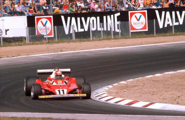 1977 German Grand Prix.Hockenheim, Germany.29-31 July 1977.Niki Lauda (Ferrari 312T2) 1st position.Ref-77 GER 02.World Copyright - LAT Photographic
