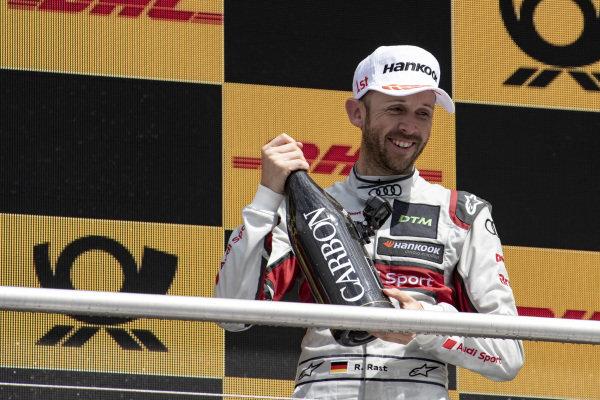 Podium, René Rast, Audi Sport Team Rosberg