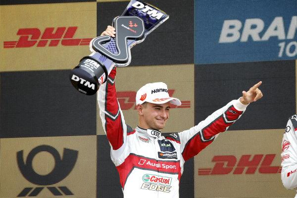 Podium: second place Nico Müller, Audi Sport Team Abt Sportsline.
