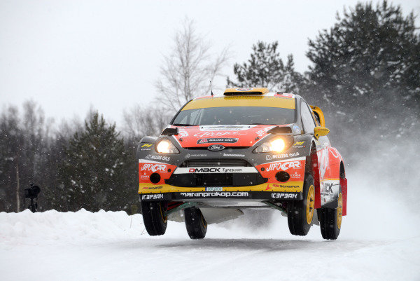 Martin Prokop (CZE) and Michal Ernst (CZE), Ford Fiesta RS WRC on stage 19. FIA World Rally Championship, Rd2, Rally Sweden, Karlstad, Sweden, Day Three, Sunday 10 February 2013.
