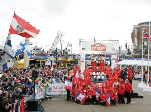 Round 12Rally Great Britain 22nd - 25th October 2009Sebastien Loeb, Daniel Elena, Citroen, podiumWorldwide Copyright: McKlein/LAT