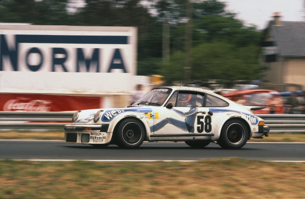 "Le Mans, France. 11th - 12th June 1977.Bob Wollek/""Steve""/Philippe Gurdjian (Porsche 934), 7th position, action. World Copyright: LAT PhotographicRef: 77LM26."