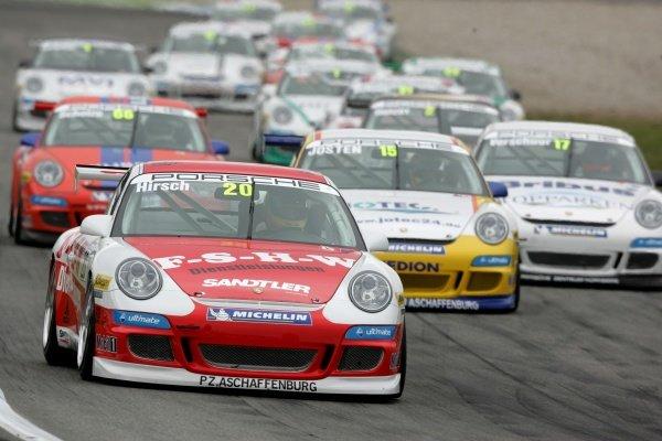 Patrick Hirsch (GER) Land Racing Porsche Cup, Rd 1, Hockenheim, Germany, 13 April 2008.