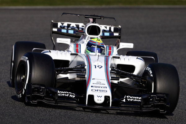 Circuit de Barcelona Catalunya, Barcelona, Spain. Tuesday 07 March 2017. Felipe Massa, Williams FW40 Mercedes. World Copyright: Glenn Dunbar/LAT Images ref: Digital Image _31I5237