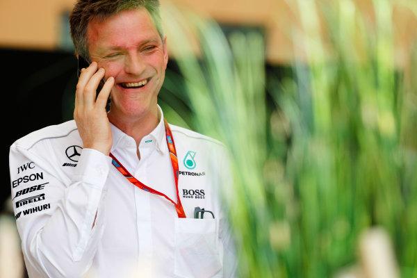 Bahrain International Circuit, Sakhir, Bahrain.  Thursday 13 April 2017. James Allison, Technical Director, Mercedes AMG. World Copyright: Sam Bloxham/LAT Images ref: Digital Image _W6I7881