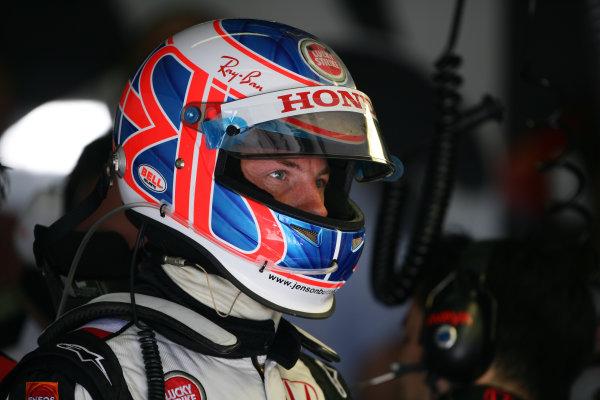 2005 European Grand Prix - Friday Practice,Nurburgring, Germany. 27th May 2005 Jenson Button, BAR Honda 007, in helmet, portrait World Copyright: Steve Etherington/LAT Photographic ref: 48mb Hi Res Digital Image