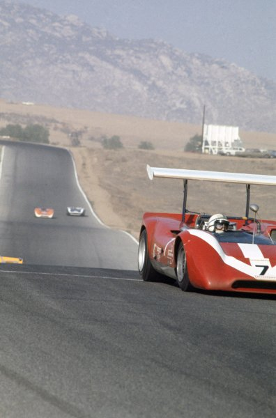 1968 Can-Am Challenge Cup.CanAm race. Riverside, California, United States (USA). 27 October 1968.John Surtees (Lola T160-Chevrolet), retired.World Copyright: LAT PhotographicRef: 35mm transparency 68CANAM08