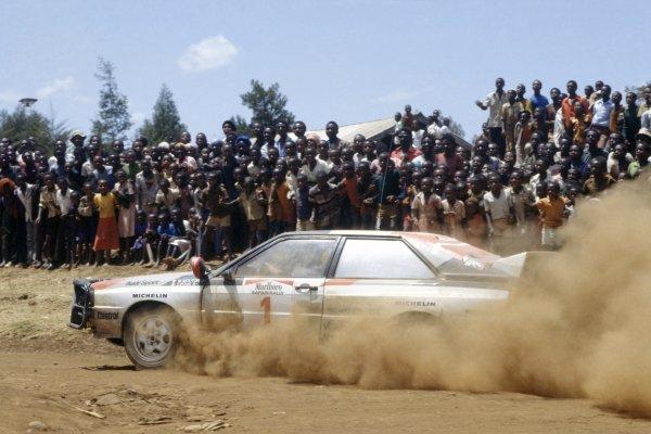 1983 World Rally Championship.Safari Rally, Kenya. 30 March-4 April 1983.Michele Mouton/Fabrizia Pons (Audi Quattro A1), 3rd position.World Copyright: LAT PhotographicRef: 35mm transparency 83RALLY14