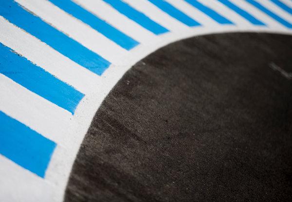 2017 GP3 Series Round 7.  Circuito de Jerez, Jerez, Spain. Thursday 5 October 2017. Kerb details. Photo: Zak Mauger/GP3 Series Media Service. ref: Digital Image _X0W9411