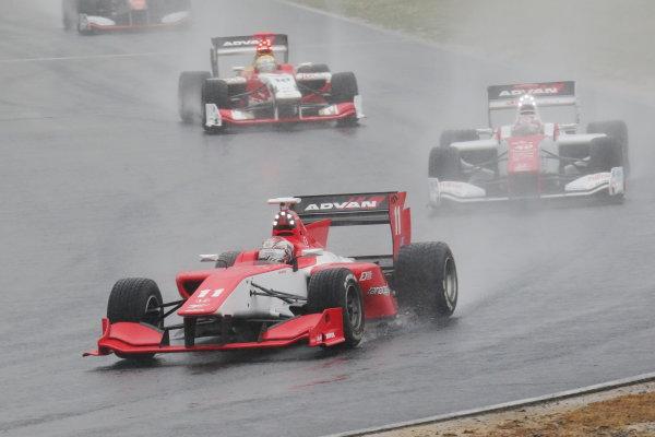 2016 Japanese Super Formula. Okayama, Japan.  28th - 29th May 2016. Rd 2. 3rd position Takuya Izawa ( #11 REAL SF14 ) action World Copyright: Yasushi Ishihara/LAT Photographic ref: Digital Image 2016SF_Rd2_010