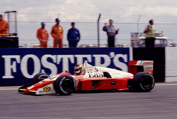 Silverstone, England. 8th - 10th July 1988. Bernd Schneider (Zakspeed 881), DNQ, action. World Copyright: LAT Photographic. Ref: 88GB55.