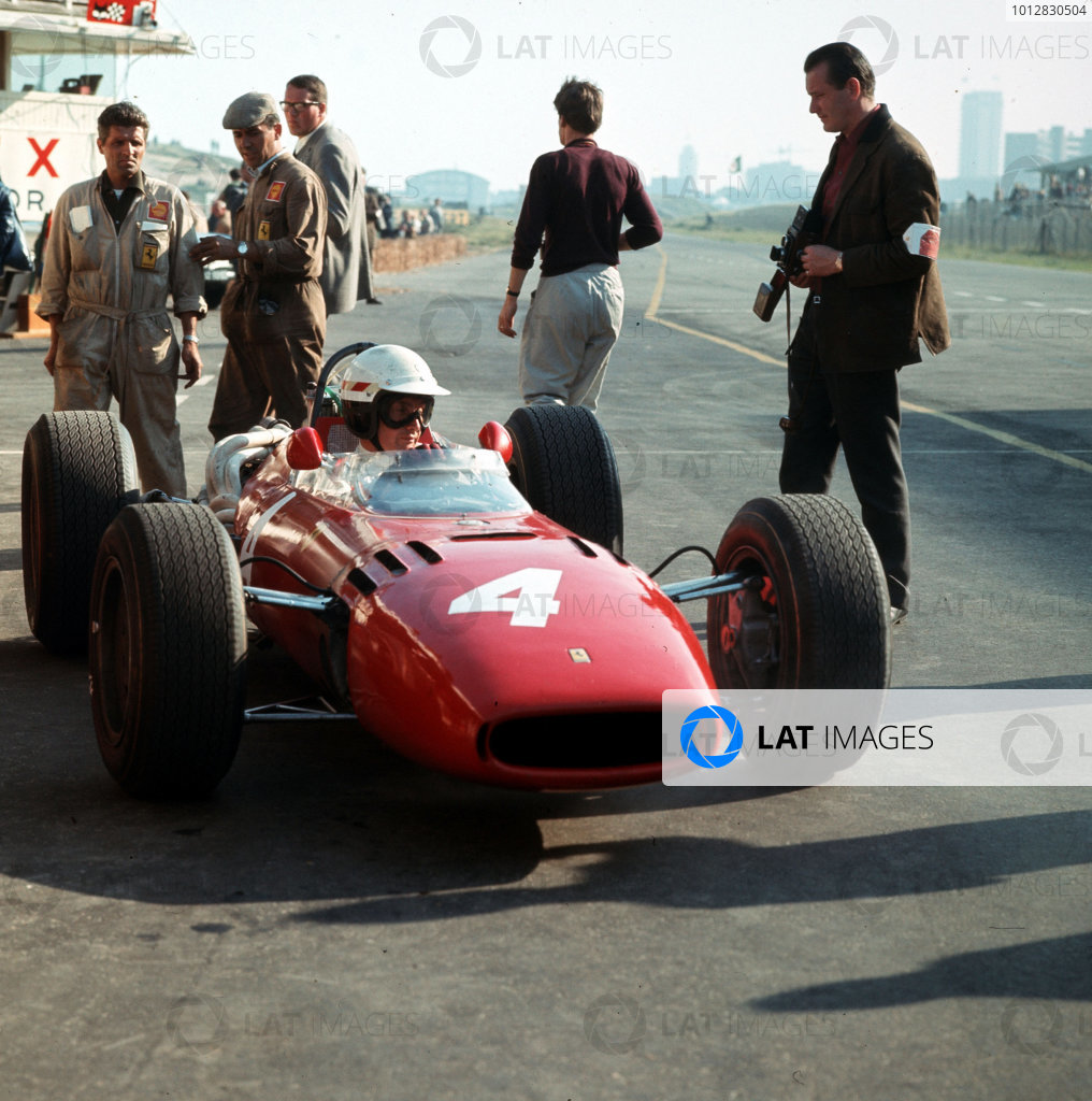 Zandvoort, Holland.22-24 July 1966.Michael Parkes (Ferrari 312).Ref-3/2274.World Copyright - LAT Photographic