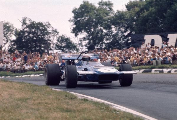 1970 British Grand Prix.Brands Hatch, England.16-18 July 1970.Jackie Stewart (Tyrrell Racing/March 701 Ford).Ref-70 GB 48.World Copyright - LAT Photographic