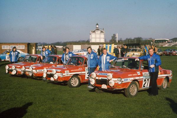 Lombard RAC Rally, Great Britain. 22-26 November 1975.Skoda GB team photo, portrait. World Copyright: LAT Photographic.Ref:  75WRC RAC 02