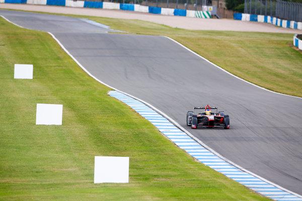 FIA Formula E Championship 2015/16. Pre-season Testing Session One. Jacques Villeneuve (CAN), Venturi VM200-FE-01  Donnington Park Racecourse, Derby, England. Monday 10 August 2015 Photo: Adam Warner/LAT/Autocar ref: Digital Image _L5R7893