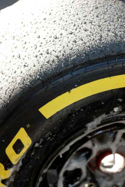 Spa-Francorchamps, Spa, Belgium. Saturday 22 August 2015. Used tyres after Qualifying. World Copyright: Alastair Staley/LAT Photographic ref: Digital Image _R6T5632