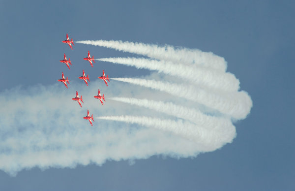Goodwood Estate, Chichester England 11th - 14th July 2013 Red Arrows World Copyright: Jeff Bloxham/LAT Photographic ref: Digital Image DSC_7488