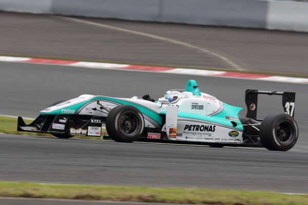Fuji Speedway, Japan 13th - 14th July 2013.Rd 9 2nd position Takamoto Katsuata ( #37 PETRONAS TEAM TOM'S ) action World Copyright: Yasushi Ishihara/LAT Photographic Ref: Digital Image 2013JF3_Rd8&9_020