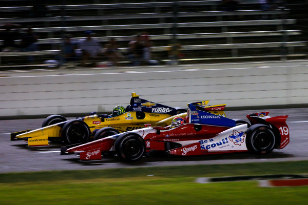 7-8 June, 2013, Fort Worth, Texas USA Tony Kanaan and Justin Wilson ©2013, Lesley Ann Miller LAT Photo USA