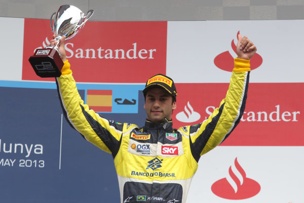 2013 GP2 Series. Round 3.  Circuit de Catalunya, Barcelona Spain. 12th May 2013. Sunday Race. Felipe Nasr (BRA, Carlin). World Copyright: Malcolm Griffiths/GP2 Series Media Service. Ref: C76D6026