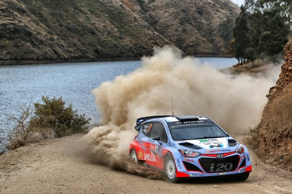 Thierry Neuville (BEL) / Nicolas Gilsoul (BEL) Hyundai i20 WRC at World Rally Championship, Rd3, Rally Mexico, Day One, Leon, Mexico, 6 March 2015.