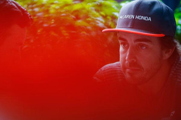 Sepang International Circuit, Sepang, Malaysia. Thursday 28 September 2017. Fernando Alonso, McLaren.  World Copyright: Andy Hone/LAT Images  ref: Digital Image _ONZ8773