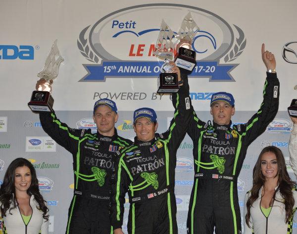 17-20 October, 2012, Braselton, Georgia USA.#01  Extreme Speed Motorsport's GT class winners.(c)2012 Dan R. Boyd, LAT Photo USA