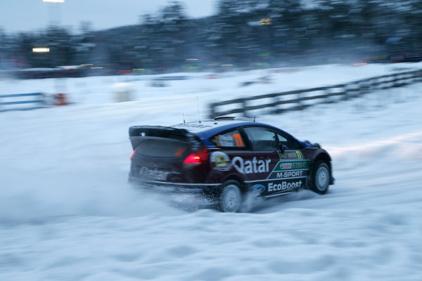 2013 FIA World Rally Championship Round 02-Rally Sweden 07-10 Februari 2013. Thierry Neuville, Ford WRC, Action.. Worldwide Copyright: McKlein/LAT