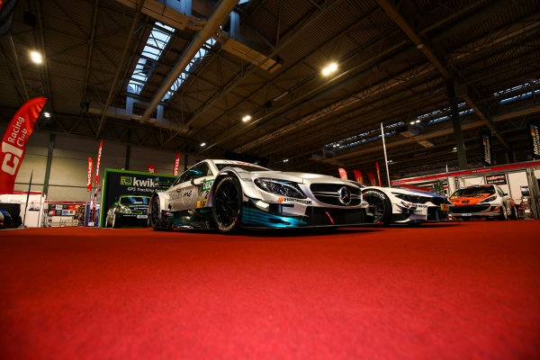 Autosport International Exhibition. National Exhibition Centre, Birmingham, UK. Sunday 14th January, 2018. BMW and Mercedes DTM cars on display.World Copyright: Mike Hoyer/JEP/LAT Images Ref: AQ2Y9411