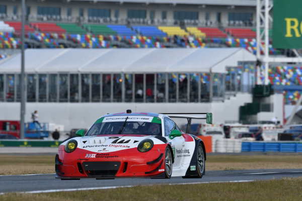 IMSA WeatherTech SportsCar Championship Rolex 24 Hours Daytona Beach, Florida, USA Friday 26 January 2018 #58 Wright Motorsports Porsche 911 GT3 R, GTD: Patrick Long, Christina Nielsen, Robert Renauer, Mathieu Jaminet World Copyright: Richard Dole LAT Images  ref: Digital Image 5RD_6763