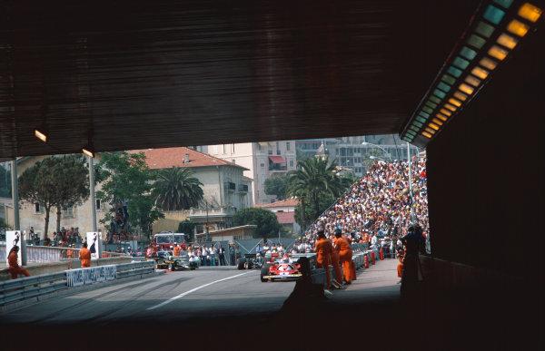 Monte Carlo, Monaco. 30th May 1976. Niki Lauda (Ferrari 312T2), 1st position action.  World Copyright: LAT Photographic.  Ref:  76 MON 51.