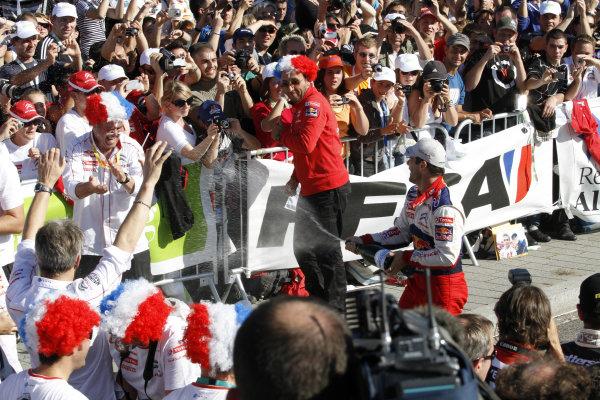 Round 11Rally de France 30/9-3/10Sebastien Loeb, Citroen WRC, Podium.Worldwide Copyright: McKlein/LAT