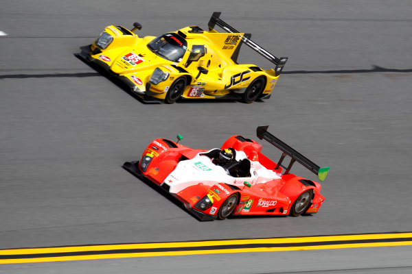 2017 Rolex 24 Hours. Daytona, Florida, USA Thursday 26 January 2017. #88 Starworks Motorsport ORECA FLM09: Scott Mayer, James Dayson, Alex Popow, Sebastian Saavedra; #85 JDC/Miller Motorsports ORECA 07: Misha Goikhberg, Chris Miller, Stephen Simpson, Mathias Beche World Copyright: Alexander Trienitz/LAT Images ref: Digital Image 2017-24h-Daytona-AT2-0646