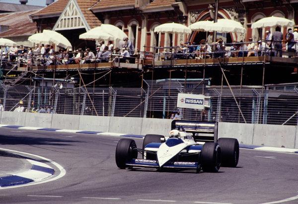 1987 Australian Grand Prix.Adelaide, Australia.13-15 November 1987.Stefano Modena (Brabham BT56 BMW).Ref-87 AUS 49.World Copyright - LAT Photographic